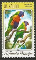 Sao Tome E Principe MNH 2014 - Rainbow Lorikeet ( Trichoglossus Moluccanus ) - Papegaaien, Parkieten