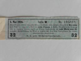 Coupon D´intérêts Payable  1 Er Mai 1916 - Titres De Transport
