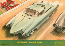 Buvards - Voitures - Automobile - Illustrateurs - Oldsmobile Golden Rocket - Illustrateur Dagobert - 2 Scans - Auto's