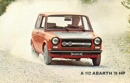 Publicités - Voitures - Automobile - Autobianchi A 112 Abarth 70 HP - 2 Scans - Bon état Général - Reclame