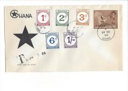 11482 - Accra 29.11.1958  Timbres Taxes - Ghana (1957-...)