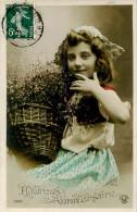 Belle Carte      -  Enfant  ,Heureux Anniversaire                                      C123  Croissant - Portraits
