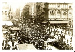 """BELGIQUE (1893) : Manifestation Pour Le Suffrage Universel, à La Bourse à Bxl. CARTE 45 DES ARCHIVES DU """"SOIR"""" (2005). - Manifestations"""