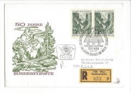 11486 - FDC Recommandé 50 Jahre Bündesforste Dienst Am Wald 06.05.1975 - 1945-.... 2ème République