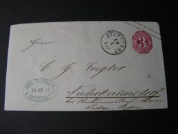 == Alter Brief Stuttgart Mit Werstempel Auch Rückseite  Doppeödruck - Wuerttemberg