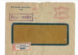 11494 - Lettre Recommandée Cachet Mécanique Praha 24.11.1926 - Tchécoslovaquie