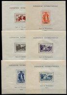 Exposition Paris 1937 ,  24  Bocs Feuillets  **               Série Complète 4 Scans - 1937 Exposition Internationale De Paris