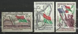 MADAGASCAR 1959 - REPUBLIC PROCLAMATION - CPL. SET - USED OBLITERE GESTEMPELT USADO