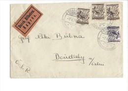11497 - Lettre Express 07.10.1928 Pour La Tchécoslovaquie - 1918-1945 1ère République