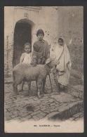 DF / ALGERIE / SCENES ET TYPES / ENFANTS ET MOUTON / CIRCULÉE EN 1905 - Argelia