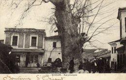 CPA   GRECE----KOZIANI---RUE PRINCIPALE---1918 - Griechenland
