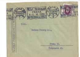 11502 - Lettre Praha 17.06.1928 Cachet Mécanique Fête Fédérale Des Sokols - Tchécoslovaquie