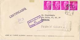 11610. Carta Certificada BARCELONA 1979. Devuelto A Remitent. Retour - 1931-Oggi: 2. Rep. - ... Juan Carlos I