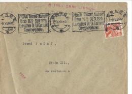 11503 - Lettre Brno 09.05.1928 Cachet Mécanique Exposition De La Culture Contemporaine - Tchécoslovaquie