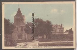 27 - QUILLEBEUF Sur SEINE--L'Eglise Et Le Presbytere--cpsm Pf - Francia