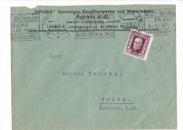 11504 - Lettre Praha 01.07.1926 Cachet Mécanique 8e Fête Fédérale Des Sokols - Tchécoslovaquie