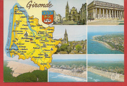 Carte Contour Géographique Du Département De La GIRONDE - Unclassified