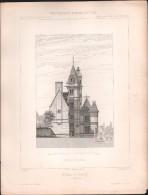PLAN - HOTEL De PINCE à ANGERS - Lot 2 Plans - Encyclopédie D´Architecture - Architecte MAGNE - Architecture