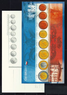 "13 EURO Postkarten ""ECB"" Euro-Münzen €, Beids. Druck, RRRR, UNC, 1998, 230 X 120 Mm - Sonstige"