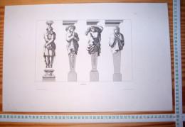 JEAN LEPAUTRE ARCHITECTE LOUIS XIV GRAVURE Decloux Doury 1880 ETS EAU-FORTE ETCH RADIERUNG ACQUAFORTE ARCHITECTURE R155 - Sculptures
