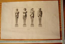 JEAN LEPAUTRE ARCHITECTE LOUIS XIV GRAVURE Decloux Doury 1880 ETS EAU-FORTE ETCH RADIERUNG ACQUAFORTE ARCHITECTURE R129 - Bois