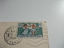 STORIA POSTALE FRANCOBOLLO COMMEMORATIVO POLINESIA FRANCESE  MOOREA CLUB MEDITERRANEE  FARES IN THE VILLAGE - Polinesia Francese
