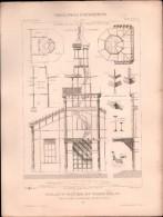 PLAN - PAVILLON Du MINISTERE Des TRAVAUX PUBLICS - Encyclopédie Architecture, Archi. DE DARTEIN - Architecture