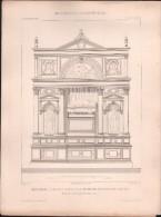 PLAN - MONUMENT FUNEBRE Du DOGE FR.VENIER, VENISE - Encyclopédie Architecture, Archi. SANSOVINO - Architecture