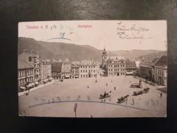 Allemagne Tetschen Am Elbe Markplatz 1906 - Allemagne
