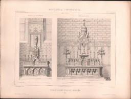 PLAN - EGLISE SAINT HILAIRE à ROUEN - Encyclopédie Architecture, Archi. SAUVAGEOT - Architecture