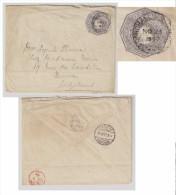 "1897, BRITISH GUIANA  ""CARMICHAEL STREET"" POSTMARK (GEORGETOWN) Postal Stationery Cover To Switzerland Suisse - British Guiana (...-1966)"