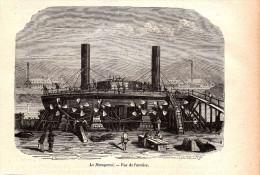 1884 - Gravure Sur Bois - Le Novogorod - Vue De L'arrière - FRANCO DE PORT - Bateaux
