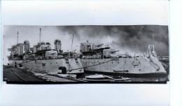 Batiment Militaire Marine Francaise Contre Torpilleur Tigre A Quai Et Panthere Toulon - Repro's