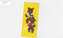 Teddy Bear And Cheese Vintage Soviet Russia Riga Chocolat Wrap - Etiquettes