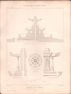 PLAN - FONTAINE MONUMENTALE à TAVERNY - Encyclopédie Architecture, Archi. ALPHONSE SIMIL - Architecture