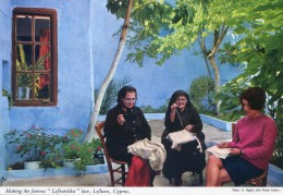 Making The Famous Lefkaritika Lace , Lefkara Cyprus - John Hinde - Chypre