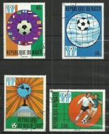 NIGER 1978 - WORLD CUP FOOTBALL - CPL. SET - USED OBLITERE GESTEMPELT USADO - Coppa Del Mondo