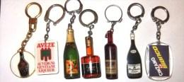 Lot De Portes Clé Publicitaire Vin Alcool - Porte-clefs