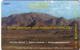 DJIBOUTI PREPAID EVATIS MONTAGNE 1950 FDJ VALID 21.09.2007 UT - Djibouti