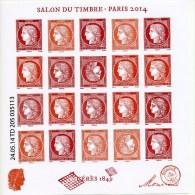 Bloc Salon Du Timbre 2014 Avec Ses 2 Têtes Bêche Neuf En Parfait état. - Neufs