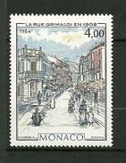 """MONACO   1984   N°1433    """" Rue Grimaldi En 1908 """"      NEUF - Neufs"""
