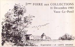 VAUX-le-PÉNIL - 3ème Foire Aux Collections - 1983 - Bourses & Salons De Collections