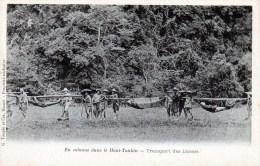 En Colonne Dans Le Haut Tonkin - Transport Des Blessés - Vietnam