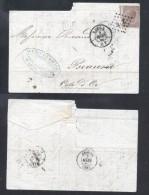 Belgium 1866 Postal History Rare Cover + Content Liege Beaune DB.251 - Belgique
