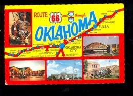 OKLAHOMA Route 66 Road + State Flag - Etats-Unis
