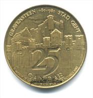 GRAVENSTEEN STADT GEND 25 GANDAE 1980 GETTONE MONETALE DELLE FIANDRE - Monetary / Of Necessity