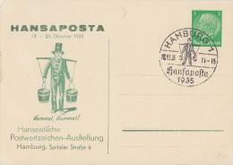 DR Privat-Ganzsache Minr.PP126 C9/01 SST Hamburg 18.10.35 - Deutschland