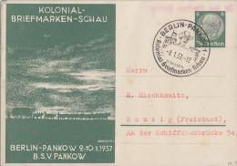 DR Privat-Ganzsache Minr.PP127 C25 SST Berlin 9.1.37 - Deutschland