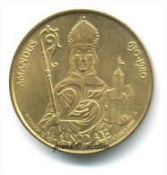 AMANDUS 1350 ANNIVERSARIO 25 GANDAE 1980 GETTONE MONETALE DELLE FIANDRE - Monetary / Of Necessity