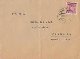 Böhmen & Mähren Brief EF Minr.10 - Briefe U. Dokumente